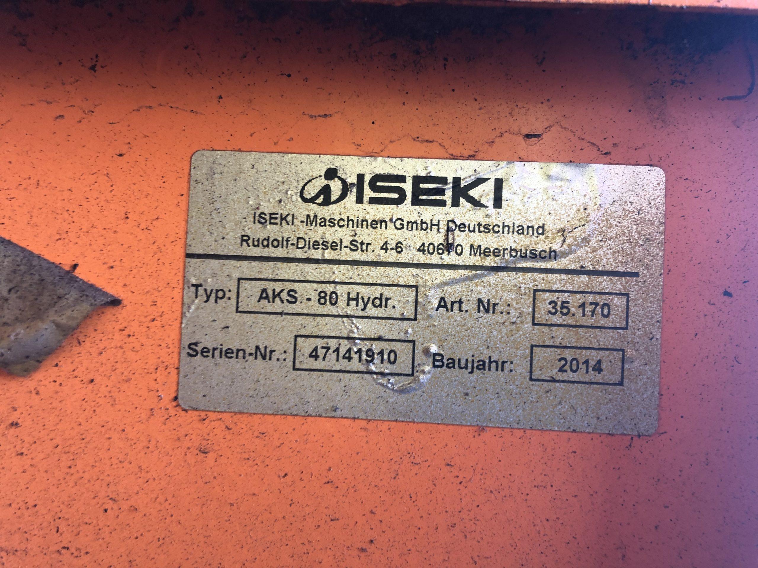 Iseki AKS 80 Kastenstreuer * Hydraulische Antrieb über Ölmotor