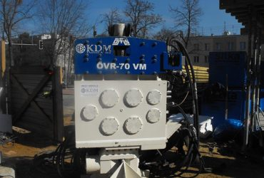 Used vibro hammer OVR 70 VM to work on a crane or piling rig