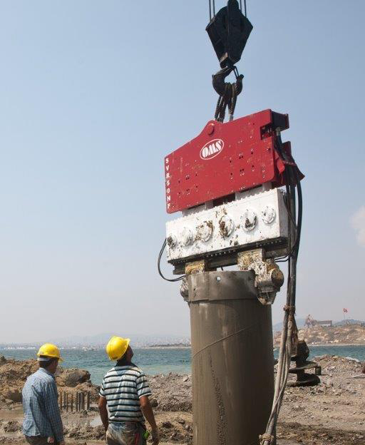 Vibro hammer SVR 50 NF to work on a crane or piling rig