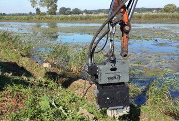 Used vibro hammer ESF 1 excavator mounted