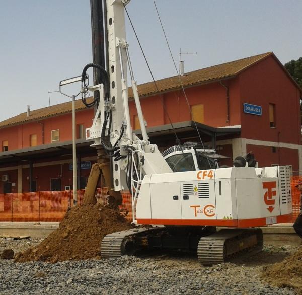 New piling / drilling rig  Tescar CF4
