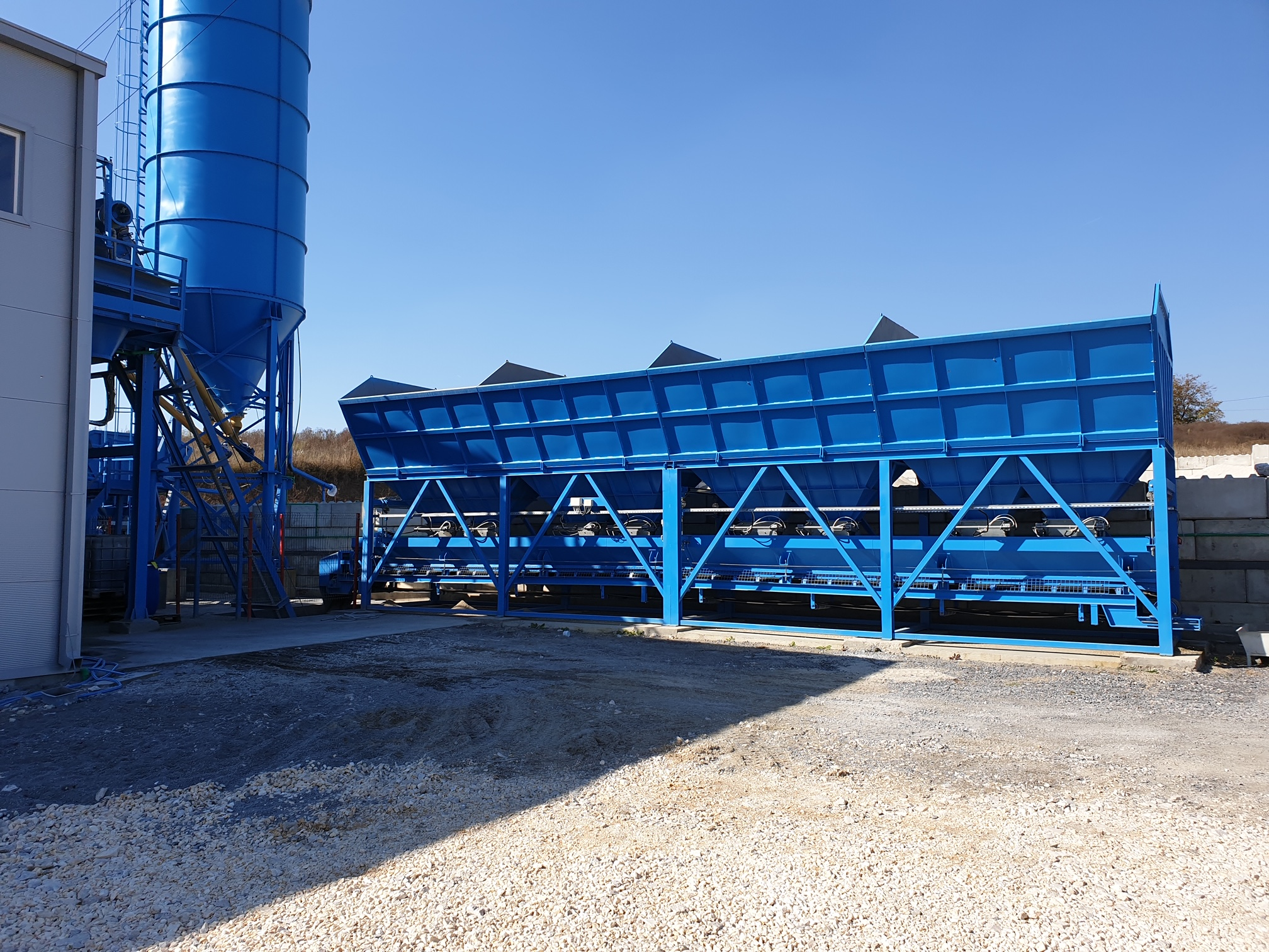Stationary concrete plant SUMAB T-10. ECONOMY CLASS