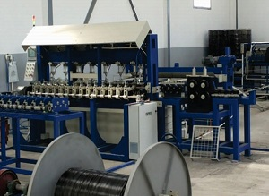 Schweißmaschine zur Herstellung von Verstärkungsgittern, Zäunen, Gabionen