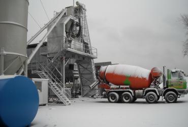 Stationary concrete batching plant SUMAB T-60
